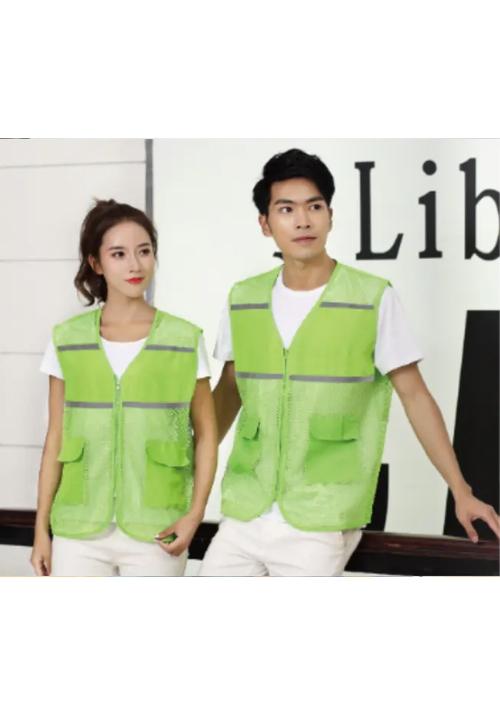 宜昌渔网布口袋(反光条)马甲