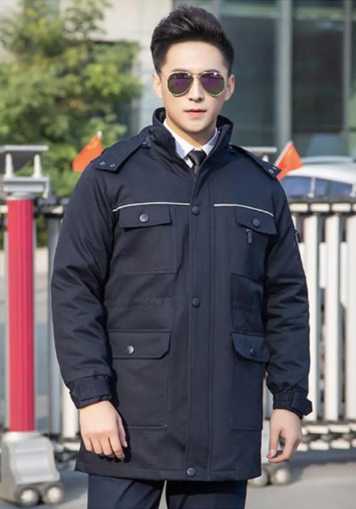 9188藏青色中长款棉服(内胆可拆卸)